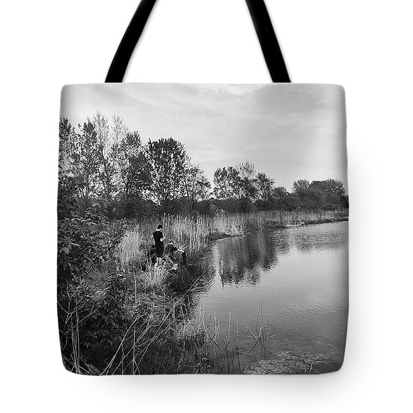 Moving The Water Tote Bag