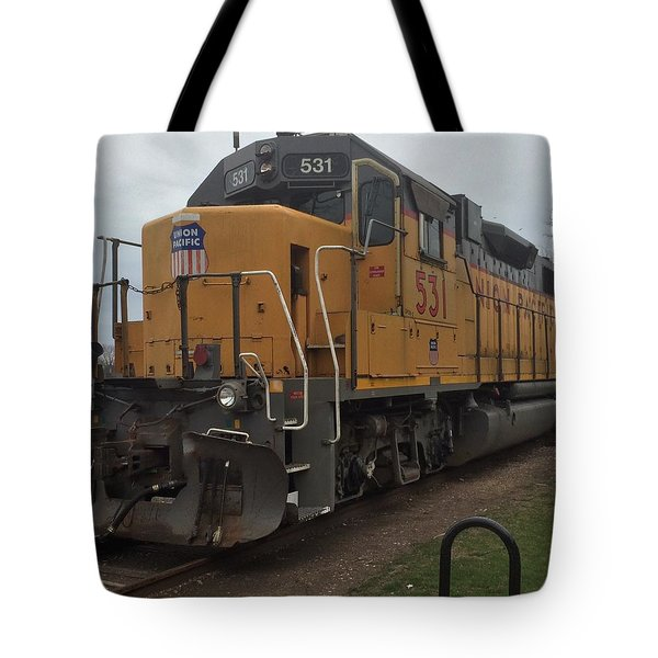 The Train At The Ymca Tote Bag