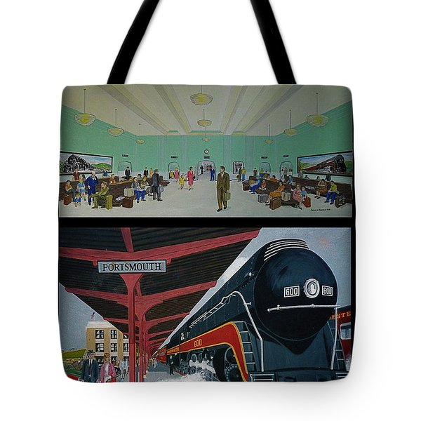 The Train Station At Portsmouth Ohio Tote Bag by Frank Hunter