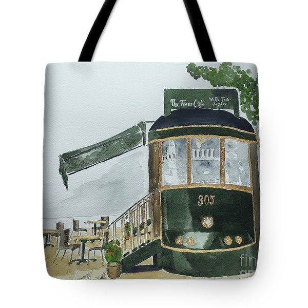The Tram Cafe Tote Bag