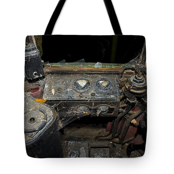Tote Bag featuring the photograph The Tram Leaves The Station... Instruments by Enrico Pelos