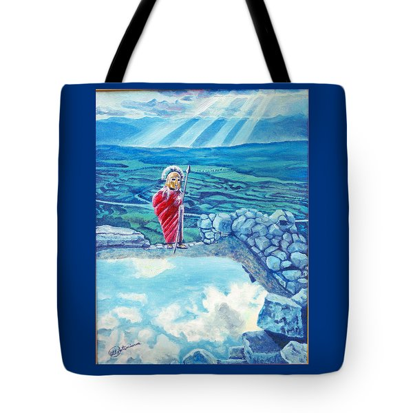 The Transcending Spartan Soldier Tote Bag