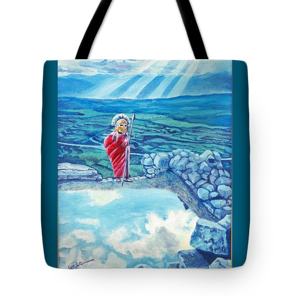 The Transcending Spartan Soldier Tote Bag