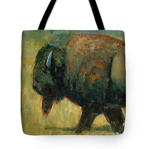 Tote Bag featuring the painting The Traveler by Billie Colson