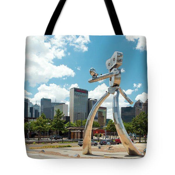 The Traveling Man Dallas 080618 Tote Bag