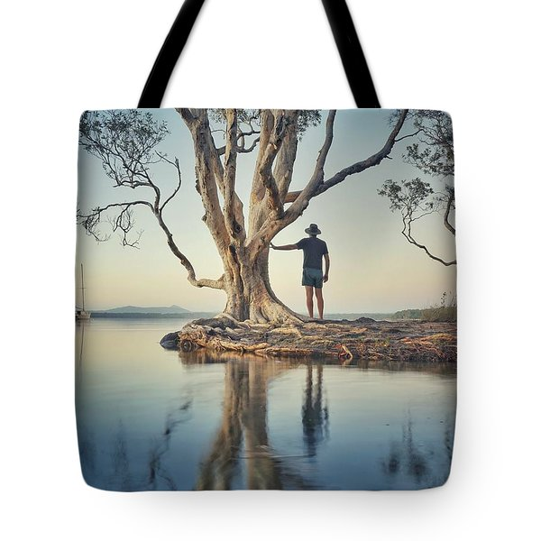The Tree And Me Tote Bag