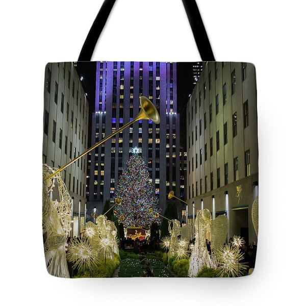 The Tree At Rockefeller Plaza Tote Bag