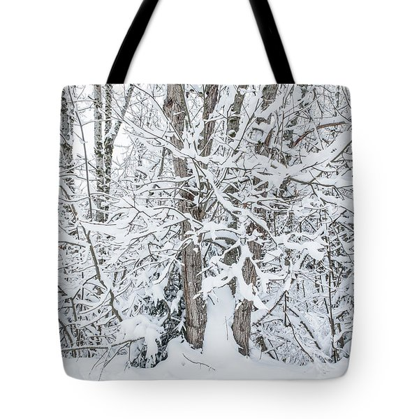 Tote Bag featuring the photograph The Tree- by JD Mims