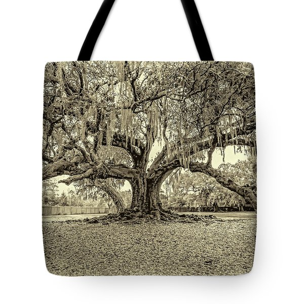 The Tree Of Life Sepia Tote Bag