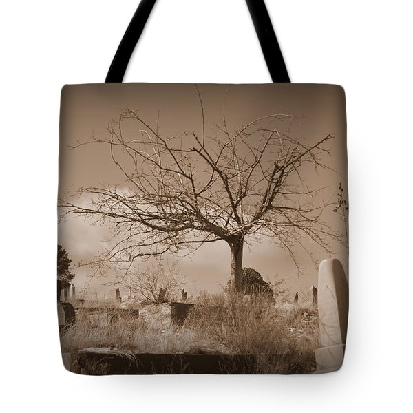 The Tree On Boot Hill  Tote Bag