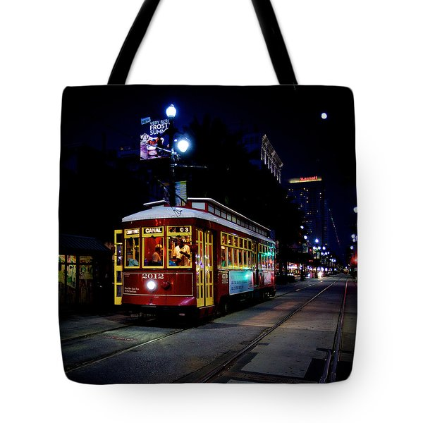 Tote Bag featuring the photograph The Trolley by Evgeny Vasenev