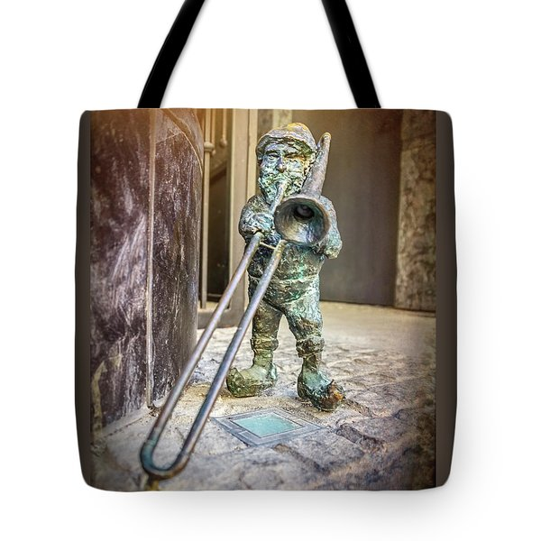 The Trombone Player Wroclaw Poland  Tote Bag