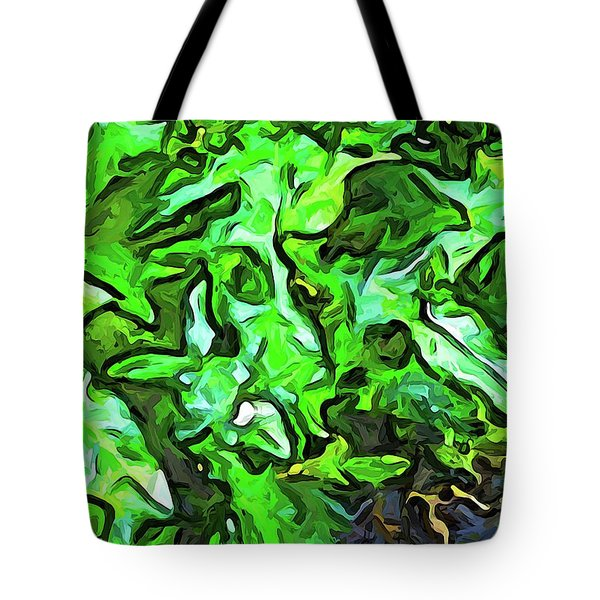 The Tropical Green Leaves With The Wings Tote Bag