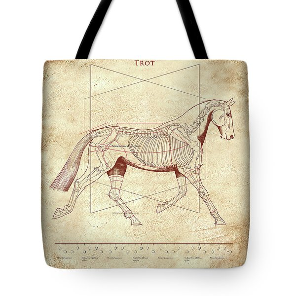 The Trot - The Horse's Trot Revealed Tote Bag