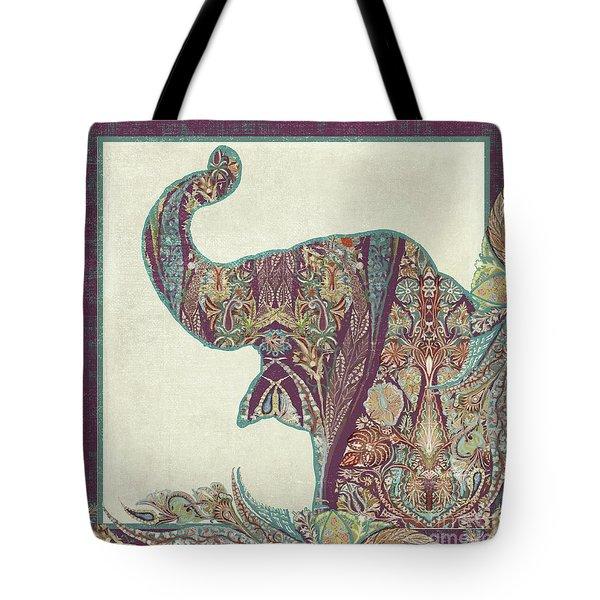 The Trumpet - Elephant Kashmir Patterned Boho Tribal Tote Bag