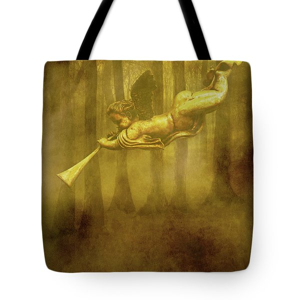 The Trumpet Sounds Tote Bag