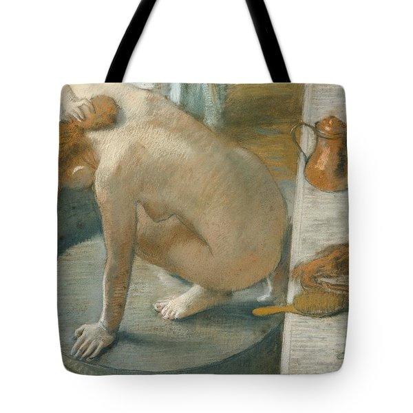 The Tub Tote Bag by Edgar Degas