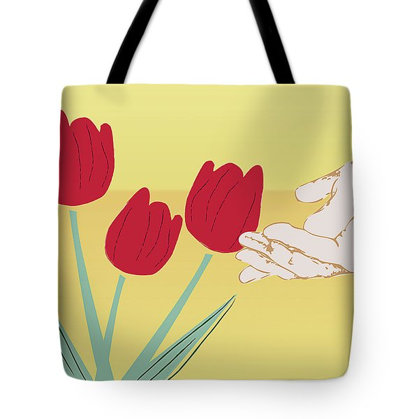 The Tulips Tote Bag by Milena Ilieva
