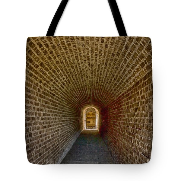 Tote Bag featuring the photograph The Tunnels Of Fort Clinch by Paula Porterfield-Izzo