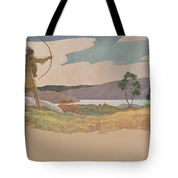 The Turkey Hunters Tote Bag by Newell Convers Wyeth