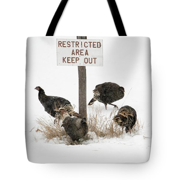 The Turkey Patrol Tote Bag by Mike Dawson