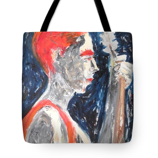 Tote Bag featuring the painting The Turkish Baglama Player by Esther Newman-Cohen