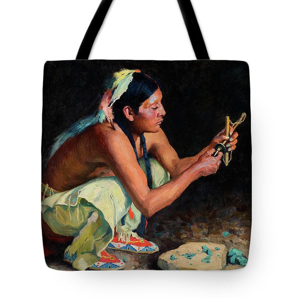 The Turquoise Bead Driller Tote Bag