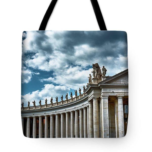 Tote Bag featuring the photograph The Tuscan Colonnades In The City Of Rome by Eduardo Jose Accorinti