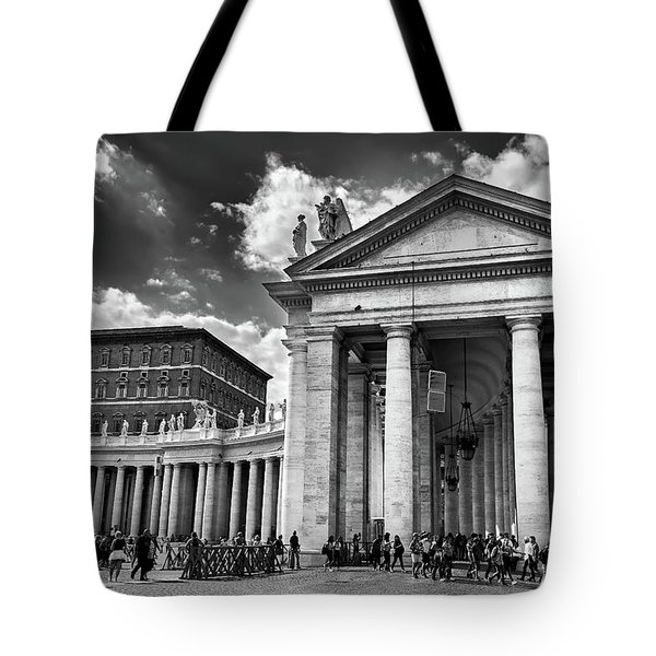 The Tuscan Colonnades In The Vatican Tote Bag