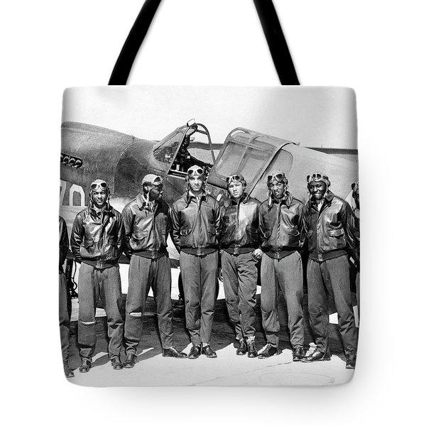 The Tuskegee Airmen Circa 1943 Tote Bag