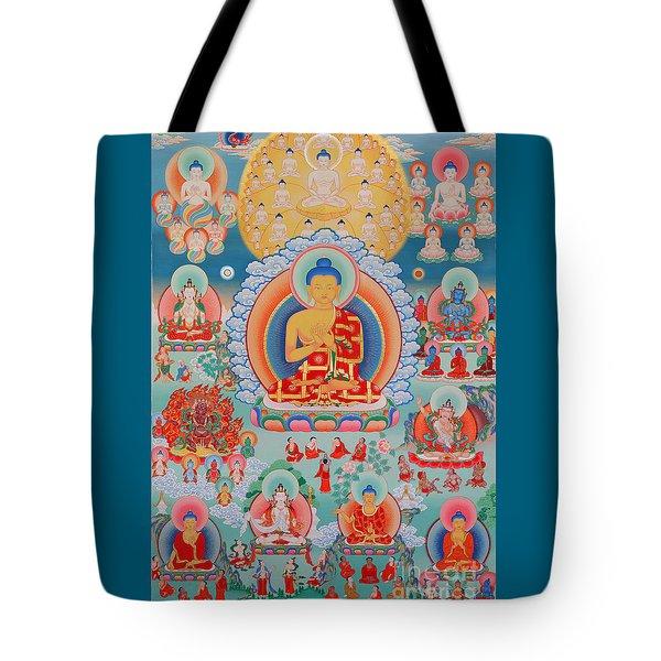 The Twelve Primordial Teachers Of Dzogchen - Tonpa Chu Ni Tote Bag