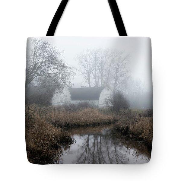 The Twin Barns Of Nisqually Tote Bag