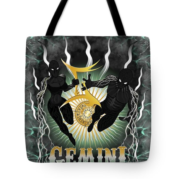 The Twins Gemini Spirits Tote Bag