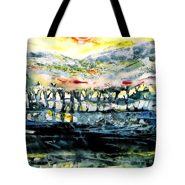 Tote Bag featuring the painting The Twisted Reach Of Crazy Sorrow by Trudi Doyle