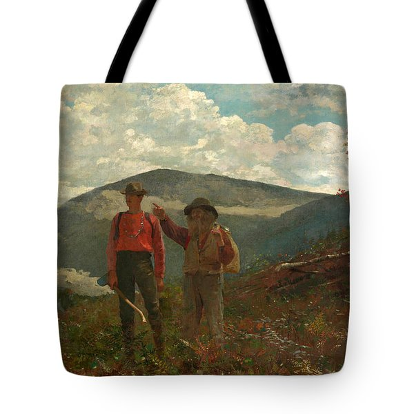 Tote Bag featuring the painting The Two Guides by Winslow Homer