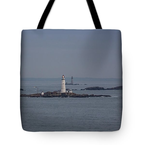 The Two Harbor Lighthouses Tote Bag