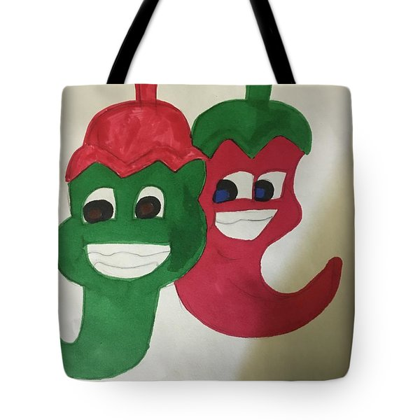 The Two Hot Peppers  Tote Bag