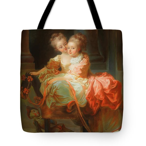 Tote Bag featuring the painting The Two Sisters                                   by Jean Claude Richard