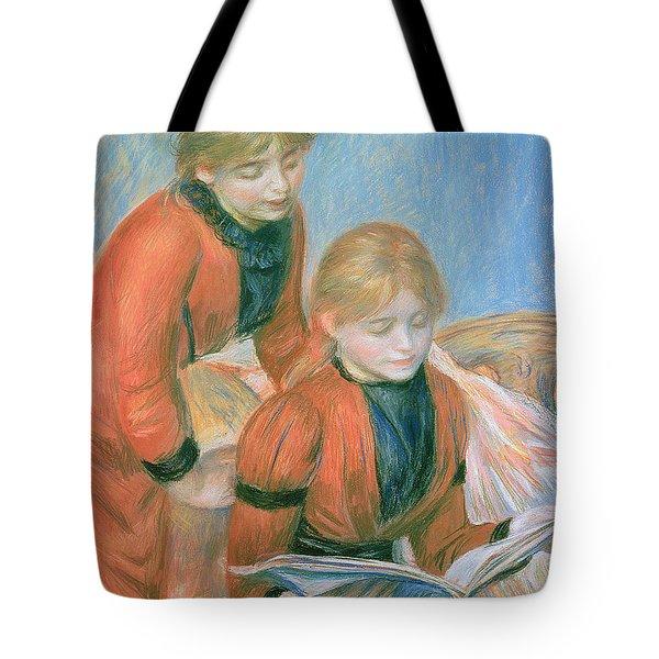 The Two Sisters Tote Bag by Pierre Auguste Renoir