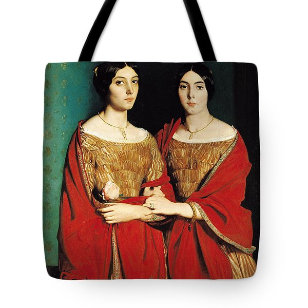 The Two Sisters Tote Bag by Theodore Chasseriau