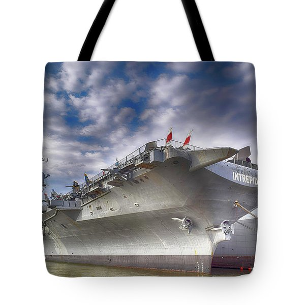 The U S S Intrepid  Tote Bag