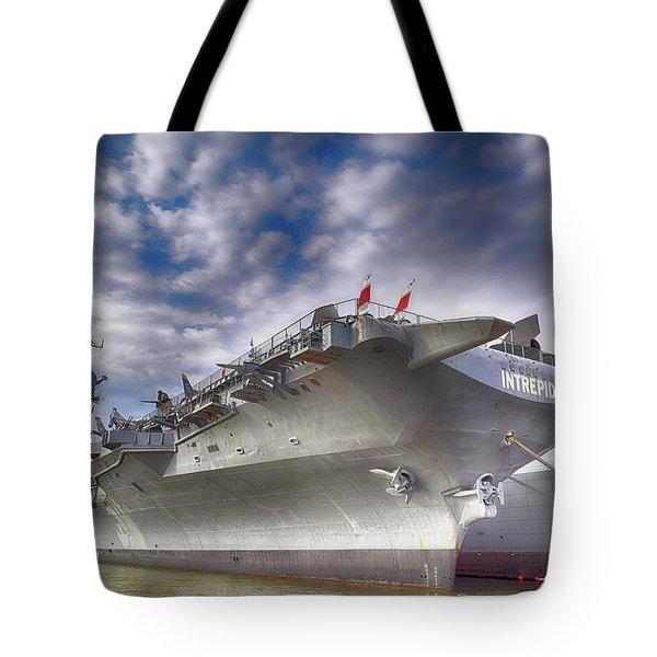 The U S S Intrepid  Tote Bag