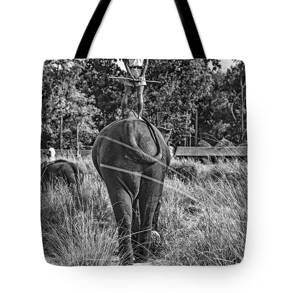 The Ultimate Bareback Ride Bw Tote Bag