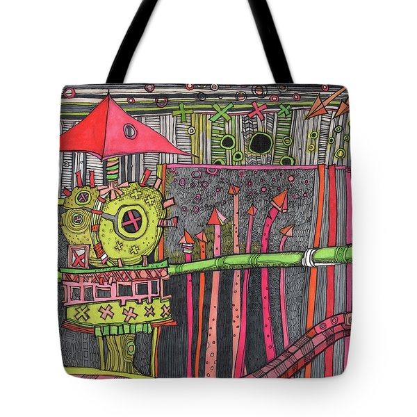 The Umbrella Roof Tote Bag by Sandra Church