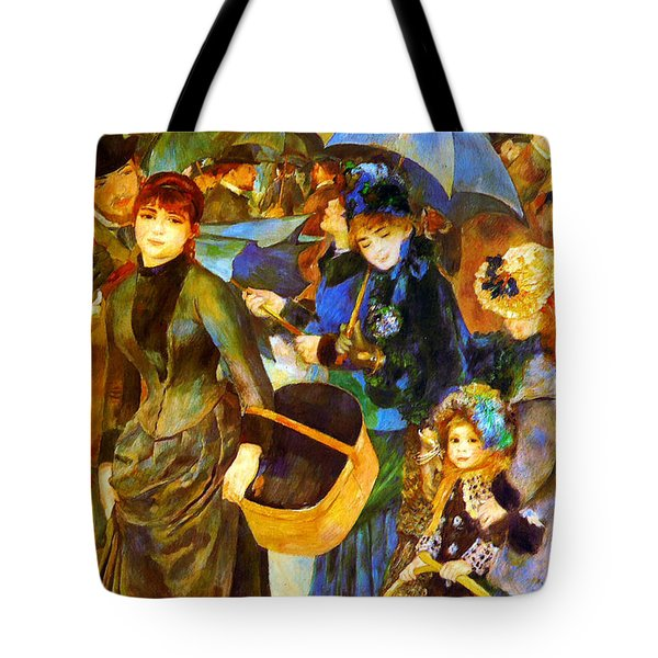 The Umbrellas By Renoir Tote Bag by Pg Reproductions
