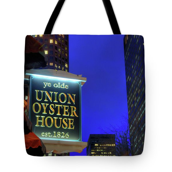 Tote Bag featuring the photograph The Union Oyster House - Boston by Joann Vitali