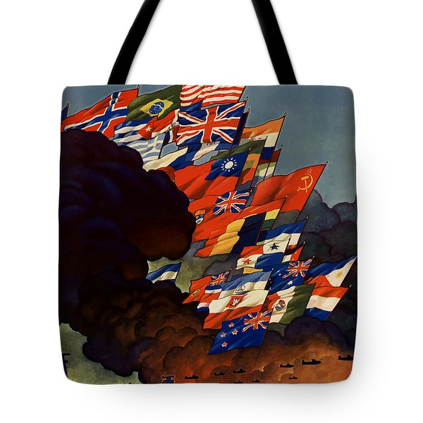 The United Nations Fight For Freedom Tote Bag