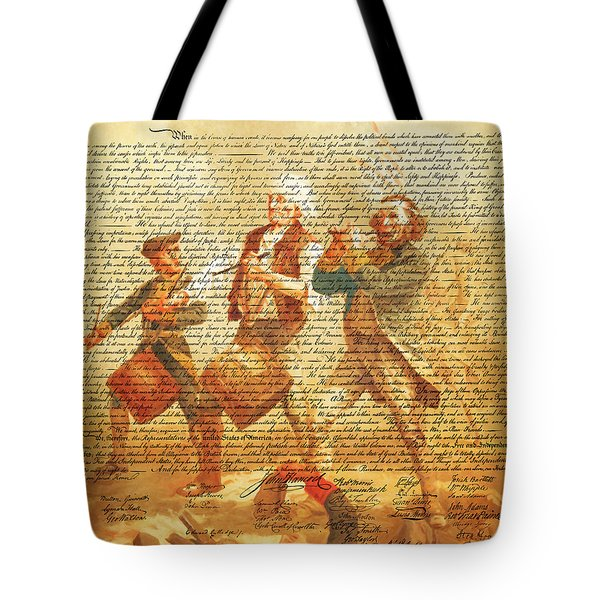 The United States Declaration Of Independence And The Spirit Of 76 20150704v2 Tote Bag