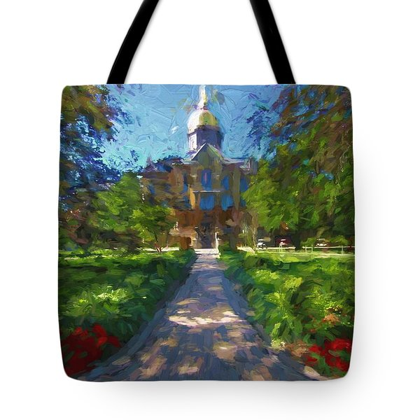 The University Of Notre Dame Tote Bag