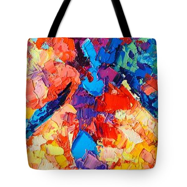 Tote Bag featuring the painting The Unknown by Ana Maria Edulescu